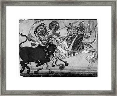 India Durga, C1700 Framed Print by Granger