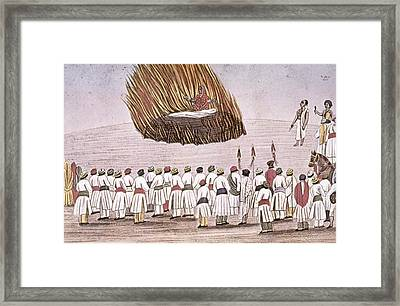 India Funeral Pyre Framed Print by Granger