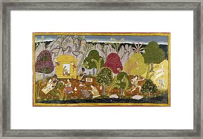 India Ramayana, C1650 Framed Print by Granger