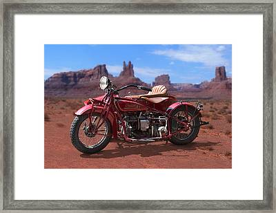 Indian 4 Sidecar 2 Framed Print by Mike McGlothlen