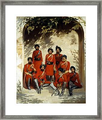 Indian Army Officers Framed Print by Gordon Hayward
