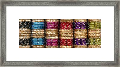Indian Bangles Panoramic Framed Print by Tim Gainey