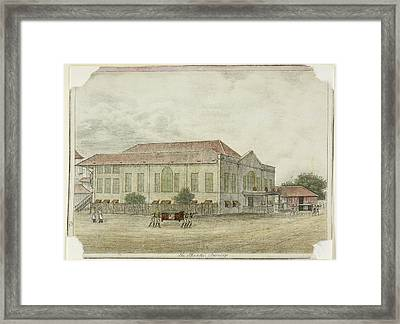 Indian Building In The Deccan Framed Print by British Library
