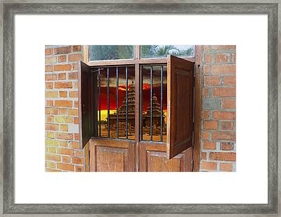 Indian Cabinet Framed Print by Greg Wells