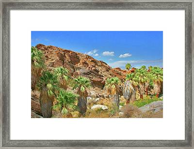 Indian Canyons View In Palm Springs Framed Print by Ben and Raisa Gertsberg