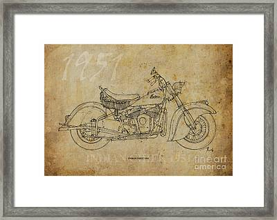 Indian Chief 1951 Framed Print by Pablo Franchi