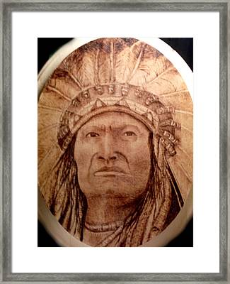 Indian Chief Framed Print by Dale Bradley