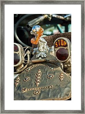 Indian Chopper Taillight Framed Print by Jill Reger