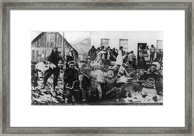 Indian Dancers At Potlatch In Sitka Alaska Framed Print by Carpenter Collection
