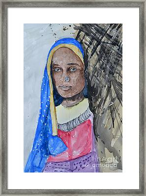 Indian Girl Framed Print by Ismeta Gruenwald