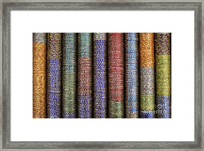 Indian Glass Bangles Framed Print by Tim Gainey