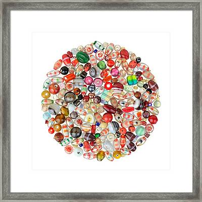 Indian Glass Beads Framed Print by Jim Hughes