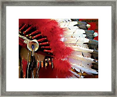 Indian Headdress Framed Print by Julie Palencia