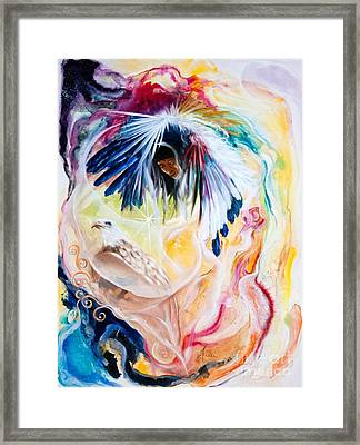Native American Indian Spirit  Framed Print by  ILONA ANITA TIGGES - GOETZE  ART and Photography