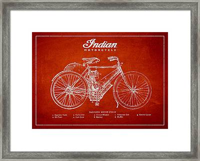 Indian Motorcycle Framed Print by Aged Pixel