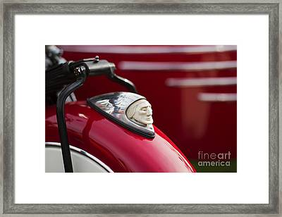 Indian Motorcycle Fender  Framed Print by Tim Gainey