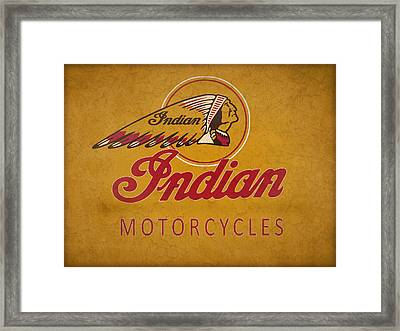 Indian Motorcycles Framed Print by Mark Rogan