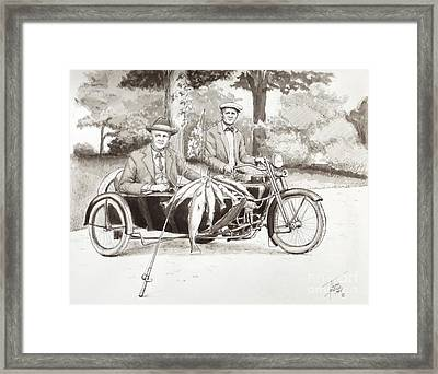 Indian Motorcylce Founders Framed Print by Art By - Ti   Tolpo Bader