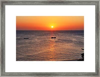 Indian Ocean Evening Scene Framed Print by Aidan Moran