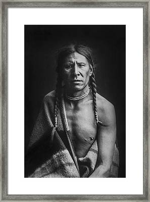 Indian Of North America Circa 1900 Framed Print by Aged Pixel