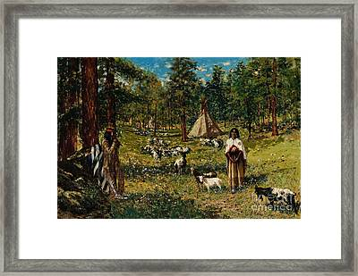 Indian Pastoral Framed Print by Celestial Images