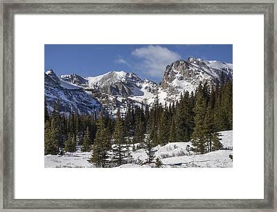 Indian Peaks Framed Print by Aaron Spong