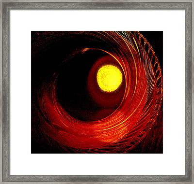 Indian Pottery As Earth Air Fire Framed Print by Lenore Senior