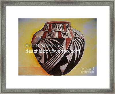 Indian Pottery Framed Print by Eric  Schiabor