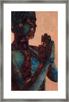 Indian Prayer Framed Print by Graham Dean