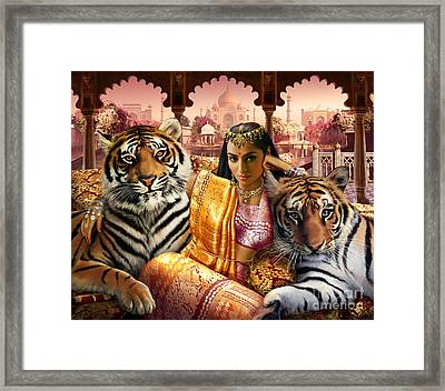 Indian Princess Framed Print by Andrew Farley