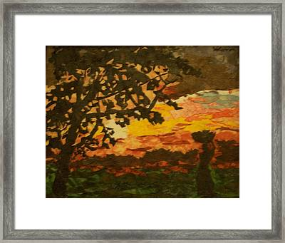 Indian Sunset Framed Print by Mihira Karra