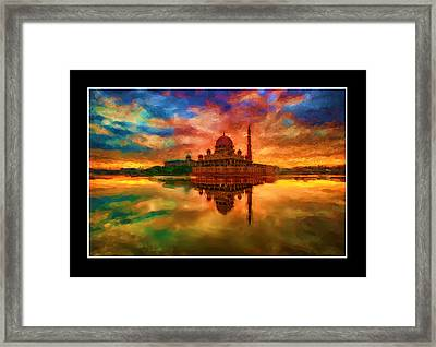 Indian Temple Mosque Framed Print by Mario Carini