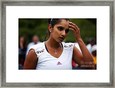 Indian Tennis Player Sania Mirza Framed Print by Nishanth Gopinathan