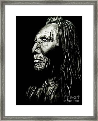 Indian Warrior Framed Print by Michael Grubb