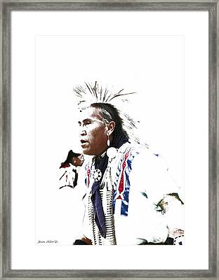 Indian Warrior Framed Print by Robert Jensen