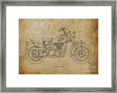 Indian Warrior Tt 1950 Framed Print by Pablo Franchi