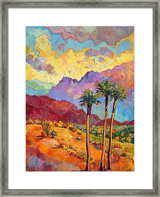 Indian Wells Framed Print by Erin Hanson