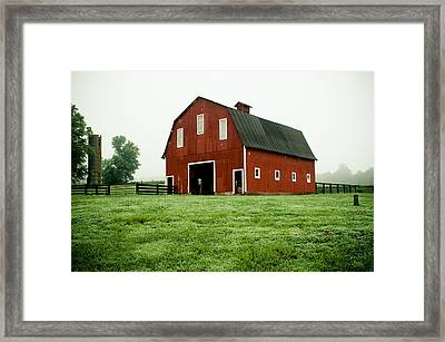 Indiana Barn Framed Print by Off The Beaten Path Photography - Andrew Alexander