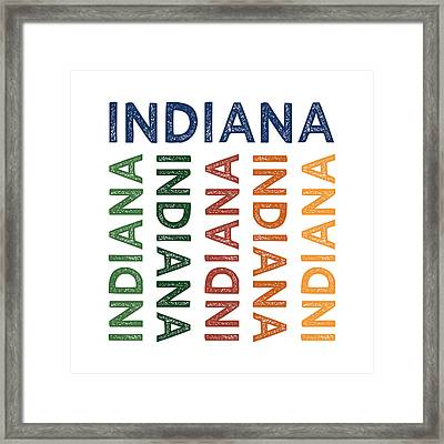 Indiana Cute Colorful Framed Print by Flo Karp