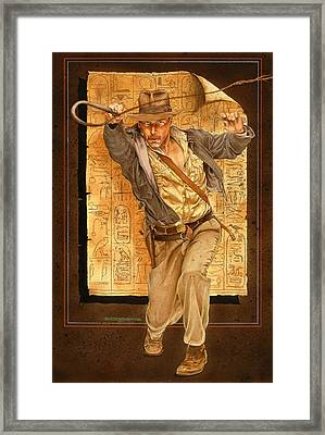 Indiana Jones Framed Print by Tim  Scoggins