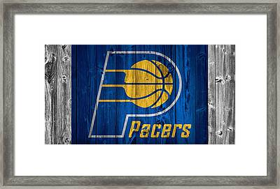 Indiana Pacers Barn Door Framed Print by Dan Sproul