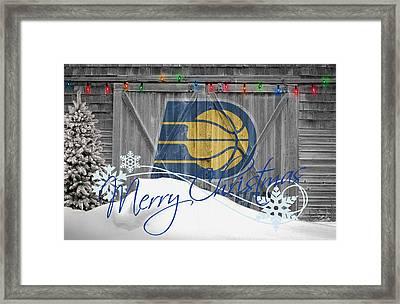 Indiana Pacers Framed Print by Joe Hamilton