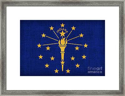 Indiana State Flag Framed Print by Pixel Chimp