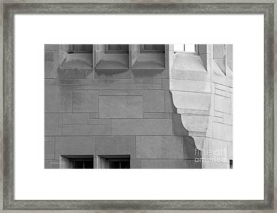 Indiana University Elegant Detail Framed Print by University Icons