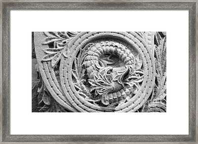 Indiana University Limestone Detail Framed Print by University Icons