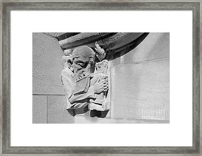 Indiana University - Memorial Hall Detail Framed Print by University Icons