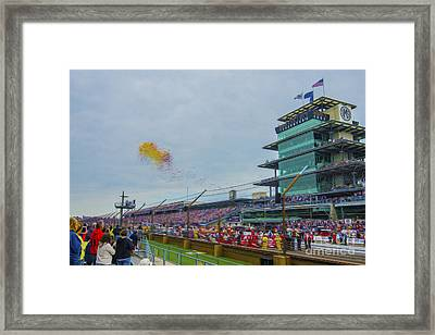 Indianapolis 500 May 2013 Balloons Race Start Framed Print by David Haskett