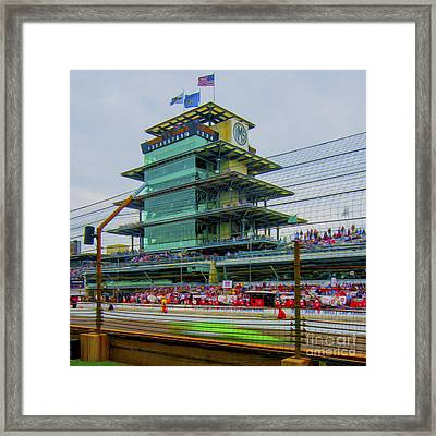 Indianapolis 500 May 2013 Square Framed Print by David Haskett