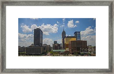Indianapolis Indiana East View Framed Print by David Haskett