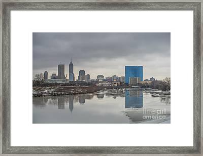Indianapolis Indiana Melting Winter Framed Print by David Haskett